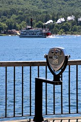OBSERVATION POINT (MIKECNY) Tags: water fence boat dock view lakegeorge observe observationdeck