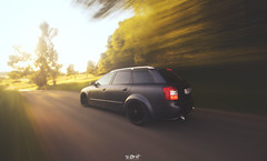 ... (Benny / 2B-OptiK) Tags: sunset car speed forest canon photography grey drive automobile shot fast sigma automotive turbo rig static a4 audi rs avant rolling stormcloud s4 18t slammed airride b6 rigshot