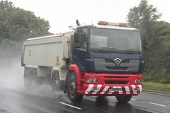 Foden (fannyfadams) Tags: uk rain wagon tipper spray lorry anglesey northwales a55 fodenalpha fj55ofx