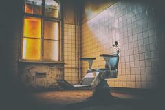 Have a seat! (Beelitz Impressions Part VI) (Bokehschtig (back, but catching up slowly)) Tags: chair dentist haunted decay light dark murky lurky fear window room beelitz berlin beelitzheilsttten sony a7 sonya7 fe1435 sonyfe3514 m