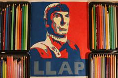 Drawing Spock - Leonard Limoy Tribute Art (Kitslam's Art) Tags: blue startrek red color colour celebrity art illustration trek star fan long drawing live fanart leonard leonardnimoy nimoy prosper