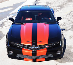 """2010 Camaro with Inferno Orange Stripes • <a style=""""font-size:0.8em;"""" href=""""http://www.flickr.com/photos/85572005@N00/16285230094/"""" target=""""_blank"""">View on Flickr</a>"""