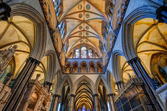 Ceiling (inkslinger15) Tags: cathedral font salisbury ceilings