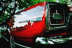 500 XL (Hi-Fi Fotos) Tags: light red reflection ford vintage nikon classiccar shine tail rear chrome american badge 500 xl galaxie d5000 hallewell hififotos