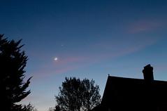 Post-eclipse Crescent Moon & Venus (Mukumbura) Tags: sky moon evening solar eclipse venus silhouettes crescent