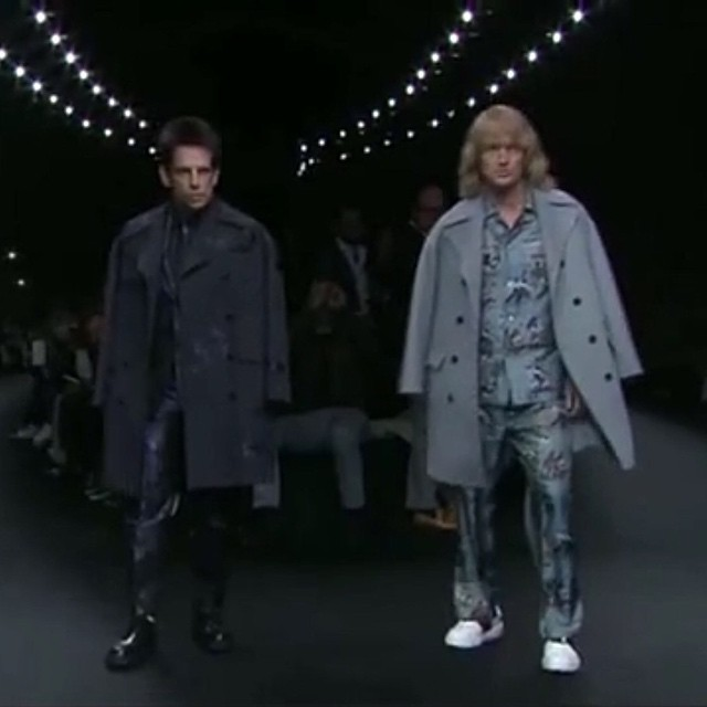Ben and Owen!!! Holy CRAP!!! Paris Fashion Week featured two really, really, ridiculously good-looking models. Derek ZOOLANDER and nemesis-turned-friend Hansel (a.k.a. Ben Stiller and Owen Wilson) shocked the audience when they walked the runway at Valent