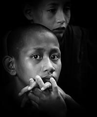 Myanmar - Birmania (peo pea) Tags: portrait blackandwhite bw bn monastery myanmar ritratto bianconero reportage monaci birmania monasteri