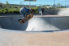 Arin_Smoky342- Arin pops a tight backside air in front of me and my Sony A7s. (ArielImages) Tags: skateboarding sony backsideair santaclaritaskatepark sonya7s 35mmsonnarfe