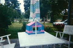 My Barbie Tent (Adele Tang 唐琴) Tags: house france colour ford film car analog vintage garden table fiesta chairs country barbie jardin bretagne tent scan parasol accessories maison nineties 90s beginner analogicait