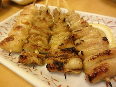Chicken Skin Yakitori @Daikichi, Guyang Road, Shanghai (Phreddie) Tags: china road food chicken beer japanese restaurant yum shanghai drink grill eat yakitori skewer daikichi guyang 150330