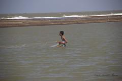 Fisherman laying nets in Velas (magiceye) Tags: sea india coast fishing fisherman maharashtra nets velas konkan