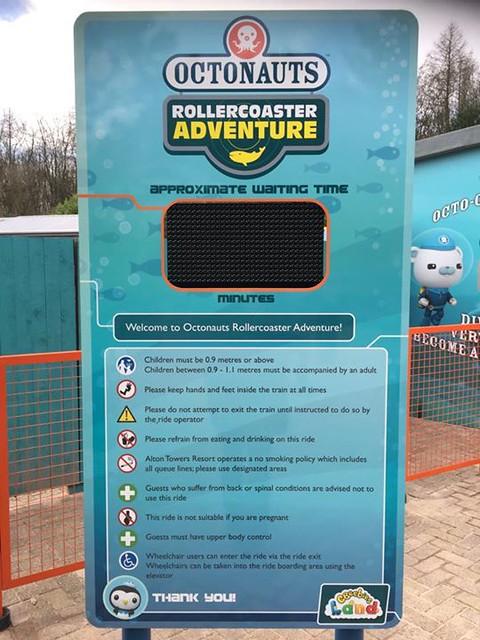 Octonauts Rollercoaster Adventure - Queue time board