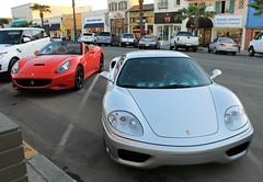 Ferrari 360 Modena, Ferrari California (RudeDude2140a) Tags: california red sports car silver convertible 360 ferrari exotic modena coupe supercar roadster