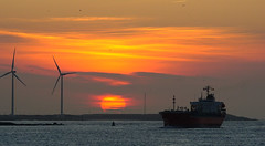 AS OLIVIA (kees torn) Tags: sunset tanker portofrotterdam maasmond asolivia