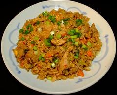Chile Sesame Pork Fried Rice (ezigarlick) Tags: chile ginger rice sauce garlic carrots friedegg greenonions friedrice sesameoil brocolli whitepepper