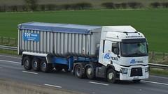 EU14 DFC (panmanstan) Tags: truck wagon motorway yorkshire transport renault lorry commercial vehicle range freight sandholme bulk m62 haulage humberside hgv