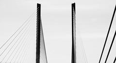 Indian River Inlet  Bridge, Delaware (lotos_leo) Tags: statepark travel bridge white black america spring graphics highway path adventure coastal sp inlet delaware peninsula route1 eastcoast indianriver delmarva cablestayed