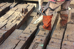 Ravenswood Connector Track Replacement - Weekend 2 (Apr 10-13) (cta web) Tags: railroad chicago cta railway trains transit brownline purpleline rapidtransit ctabrownline ctapurpleline ravenswoodconnector