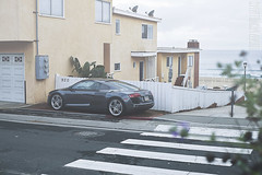 Audi R8 (Logan McWilliams) Tags: ocean california morning mist beach fog sunrise la los angeles audi r8
