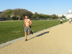 IMG_0758 (FOTOSinDC) Tags: shirtless hairy man muscles back arms arm legs candid chest leg handsome running sweaty sweat guns jogging runner jogger