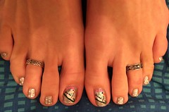 Snowman Toes - January 2016 (martha.harmon) Tags: snow feet foot snowman toes toe snowmen pedicure toering nailart toerings naildesign