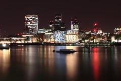 The City (pblackwell27) Tags: uk longexposure greatbritain thames night river lights cityoflondon skyscrapper the centrallondon capitalcity walkietalkiebuilding