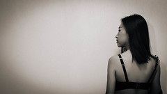 back (SethYang) Tags: portrait girl beautiful beauty lady pose body young