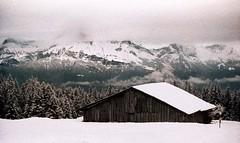 Combloux, lomographie, 12 (Patrick.Raymond (2M views)) Tags: france montagne alpes xpro lomography nikon neige savoie mont blanc haute argentique combloux