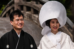Japanese bride and groom (TheSpaceWalker) Tags: history japan photography japanese groom bride photo nikon kamakura pic tradition kanagawa japanesewedding jpn d300 tsurugaokahachimangu goldenweek thespacewalker