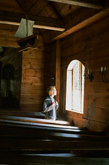 Inside the old church of Ruhnu (Runo) island, Baltic sea, Estonia.      (),  ,  (Iurii & Natali) Tags: wood old sea color film church saint vintage island 50mm wooden estonia ship fuji gulf place sweden 15 slide baltic latvia velvia chrome analogue runo fujichrome praktica riga eesti faraway diafilm mtl5 ruhnu yashicon