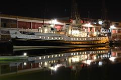 Balmoral, Bristol (sgreen757) Tags: street cruise reflection water night bristol lights boat nikon long exposure ship harbour cranes passenger princes balmoral harbourside mshed d7000