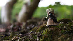 Reconnaissance (Kyle Hardisty) Tags: california lighting macro brick field grass rock canon kyle lens photography rebel star rocks arms lego fig outdoor lakes may 4th mini dirt mammoth stormtrooper wars pancake 40mm custom twigs depth f28 sl1 minifigure 2016 brickarms hardisty