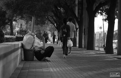 """"""" L o n e l y """" (KanaLeo) Tags: life old shadow people monochrome dark prime blackwhite still quiet peace time beijing streetphotography samsung while feeling dailylife everyday helios swirlybokeh nx1000 holdthisposition kanaphotography"""