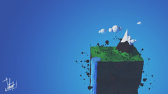 High (Samuel Daz) Tags: blue nature illustration 3d low blender minimalism poly minimalismo lowpoly ilustracin