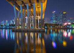 Benjamin Sheares Bridge (Ram Suson Photography) Tags: bridge architecture singapore suntec kallangriver benjaminshearesbridge sheares