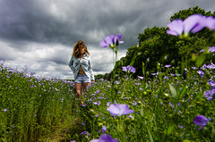 Champs de lin (J'AIME...) Tags: wild portrait woman storm girl beautiful beauty fashion clouds rural landscape countryside model nikon champs lin orage nuageux
