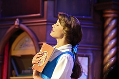 Beauty and Her Book (Explored) (KC Mike D.) Tags: park old beauty book costume time disneyland disney fantasy sing belle beast wardrobe rapunzel tale gaston beautyandthebeast fantasyland tangled vocal taleasoldastime