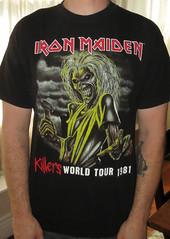 #1761A Iron Maiden - Killers World Tour 1981 (Minor Thread) Tags: world black classic rock metal shirt vintage concert tour tshirt 1981 eddie merch killers ironmaiden minorthread tshirtwars