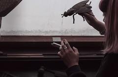 """J166/365  """"Strange kid"""" (manon.ternes) Tags: paris photos photography photographie projet365 personne projet pink parisienne portrait purplehair project personnes potique parisiens 365project 365days 365 tudiante student strange fille girl weird bizarre insecte kid jeux love"""