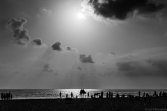 Sunset in Beach (ramprasadlg6969) Tags: sunset beach blackwhite