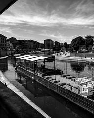 Darsena vintage (gabriele31790) Tags: street city urban panorama black milan vintage amazing milano fiume be bianco nero citt navigli girovagando panirama
