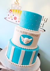 6.25.16 (Simply Sweet Creations) Tags: christeningcake baptismcake boybaptismcake boychristeningcake bluechristeningcake bluefondantcake bluebaptismcake