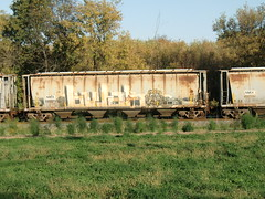 10-08-10 (35) (This Guy...) Tags: road railroad car train graffiti box graf rail rr traincar boxcar graff 2010