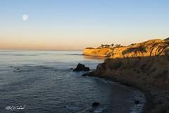 Take Off At Moonset (Alfred J. Lockwood Photography) Tags: ocean california winter moon seascape nature sunrise landscape dawn pacificocean takeoff moonset pacificcoast californiacoast palosverdes palosverdespeninsula alfredjlockwood