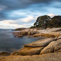Bicheno by the Bay (Suburbanvoodoo) Tags: sunset nikon rocks tasmania coastline foreshore bicheno d800e
