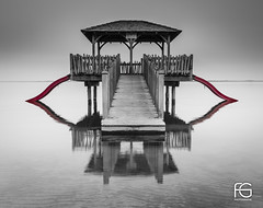 The red slide (Fabien Georget (fg photographe)) Tags: longexposure sky bw nature water beautiful sunrise canon pose french landscape geotagged photography eos photo flickr shot noiretblanc earth touch great lac paysage paysages wonders biscarosse blackanwhite aquitaine greatphotographer georget beautifulearth poselongue wondersofnature supershot perfectphotograph theworldthroughmyeyes bigfave perfectpictures supershotaward elitephotography phographers flickrunited elitephotographie ayezloeil flickunited canoneos600d elmundopormontera fabiengeorget cloudsstromssunsetandsunrise fgphotographe mordudephoto flickrdepot