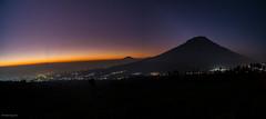 Sunrise with Mt. Sumbing view (petersaputra) Tags: mountain sunrise indonesia star java central jawa tengah sindoro sumbing posong