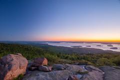 Twilight in Acadia (JLSideri) Tags: sea sky mountain nature america sunrise landscape nationalpark twilight maine newengland cadillac atlantic land scape acadia acadianationalpark