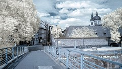 On the bridge (Yasmine Hens) Tags: bridge europa flickr belgium ngc cathdrale infrared pont namur hens yasmine wallonie 720nm infrarouge cathdralesaintaubain world100f iamflickr flickrunitedaward hensyasmine