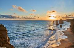Twelve apostles, Great Ocean Road (@robinlautier) Tags: landscape seascape sea ocean paysages nikon travel trip seacliff sunset cloud sky australia australie nikonpassion